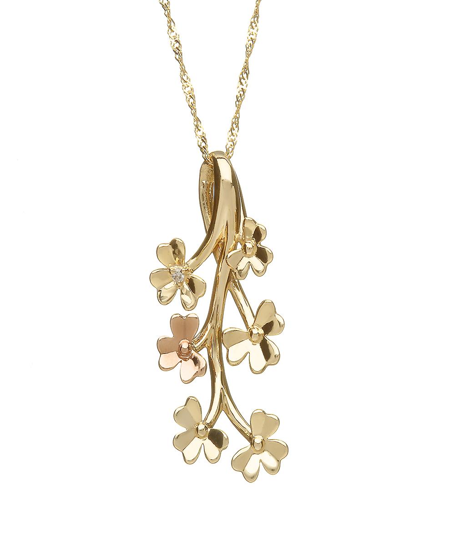 Rare irish gold diamond shamrock pendant house or lor rare irish gold diamond shamrock pendant aloadofball Images