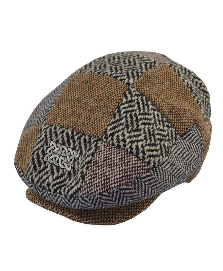 Multi Tweed Flat Cap
