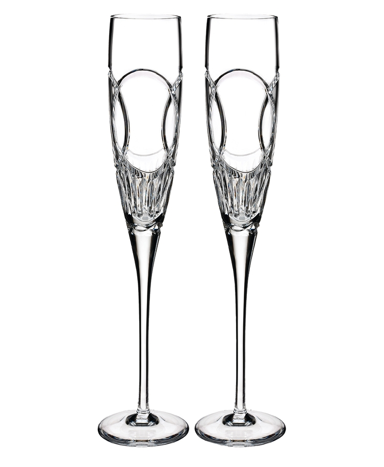 home irish crystal waterford crystal wedding vows flute pair