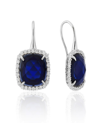 Waterford Saphire and Cz Earings