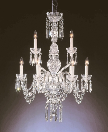 Waterford Ashbourne 9 Arm Chandelier 240 V 86.36cm H, 71.12cm W 15 kg