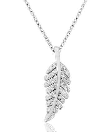 Wateford Leaf Pendant Sterling Silver