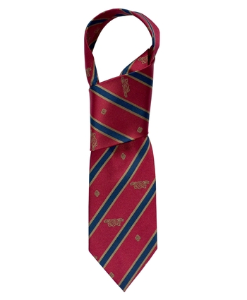 Silk Red and Navy Patrick Francis Tie