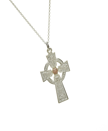 Arda Ladies Celtic Cross with Rare Irish Gold Boss