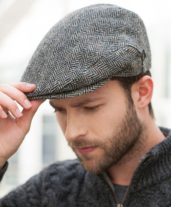 Mucros Trinity Cap - Grey Tweed