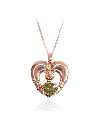 MAUREEN O'HARA ROSE GOLD CLADDAGH PENDANT