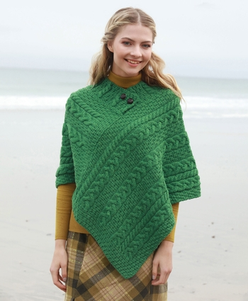 Aran Ladies Poncho - Available Nov 18