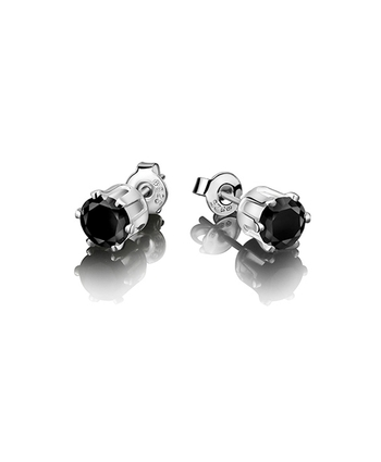 Stud Earring - Black Stone