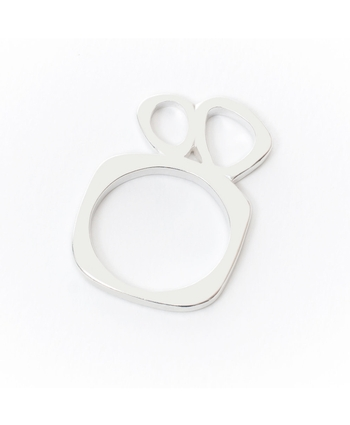 Constance Stacking Ring 2 (wide) Silver
