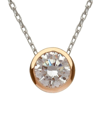 House of Lor CZ Pendant with Rare Irish Gold