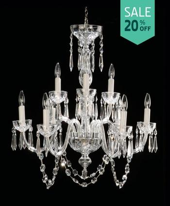 Waterford crystal lighting waterford crystal chandelier lismore 9 arm aloadofball Gallery