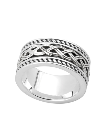 SILVER GENTS CELTIC KNOT BAND