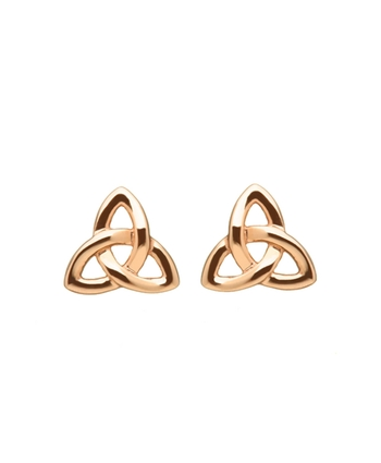 Rose Gold Trinity Stud Earrings