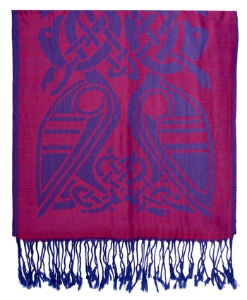 PINK & ROYAL TWO - TONE WOOL SCARF