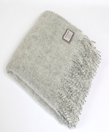 CLASSIC GREY/WHITE NEW QUALITY THROW