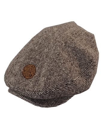 BROWN TWEED FLAT CAP