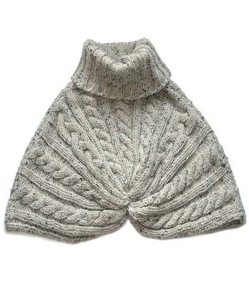 OATMEAL SPECKLED WOOL CAPE