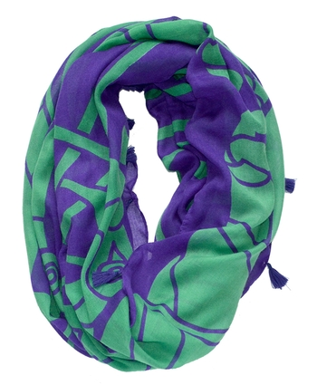 PUR/GRN CELTIC INFINITY SCARF