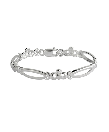CLADDAGH & OPEN LINK BRACLET