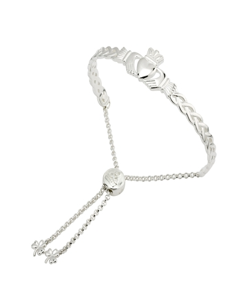 Solvar Fáilte S/S CELTIC CLADDAGH  BANGLE Drawstring