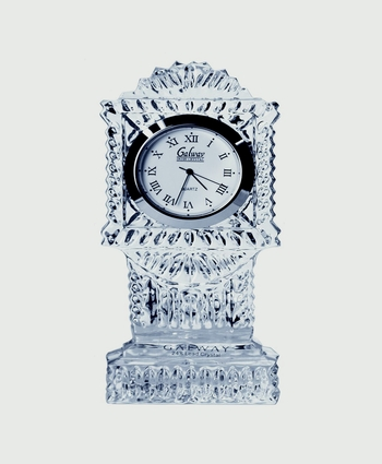 Galway Crystal Grandfather Clock Round