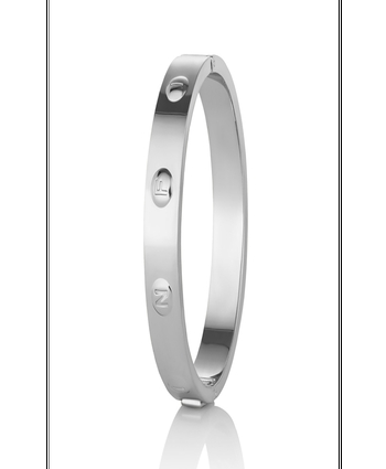 Newbridge Rhodium plate Infinity Bangle