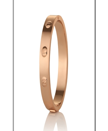 Newbridge Rose Gold plate Infinity Bangle