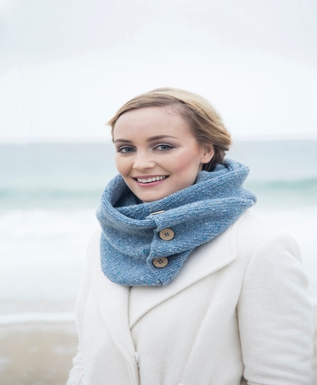 Button Snood Scarf
