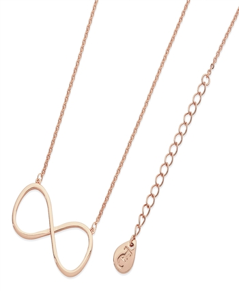 Rose Gold INFINITY PENDANT Large