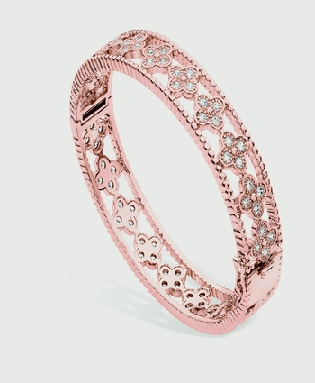 MULTIPLE FLOWER BANGLE - ROSE GOLD