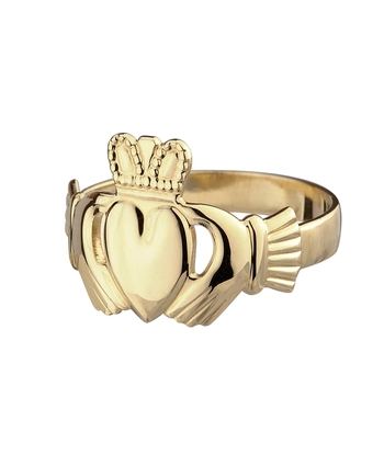 9K HALLOW BACK MAIDS CLADDAGH RING