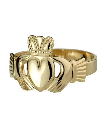 14K HALLOW BACK MAIDS CLADDAGH RING