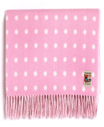 Foxford PINK/WHITE Spot Baby Blanket