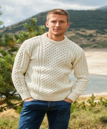 Mountain Sheep Wool Irish Sweater