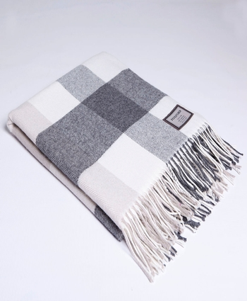 CLASSIC BLOCK CHECK Lambswool Throw
