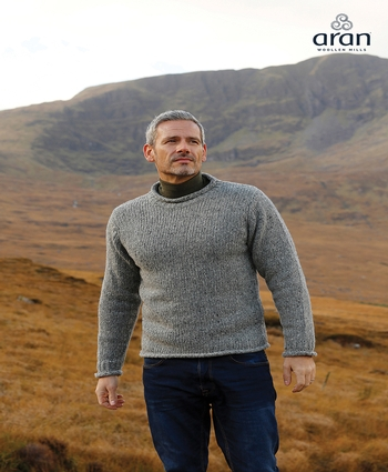 Men's Crew Neck WOOL ARAN