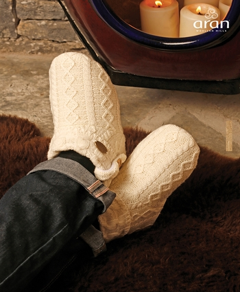 Adult Knitted Boot Slipper