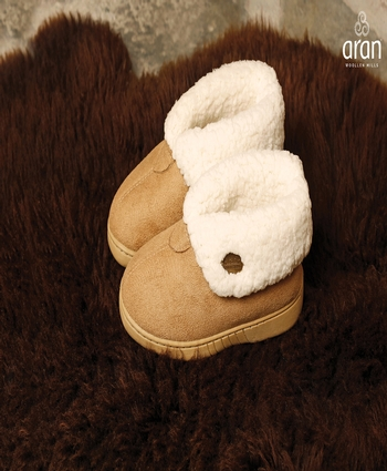 Child's Faux Suede Boot Slipper