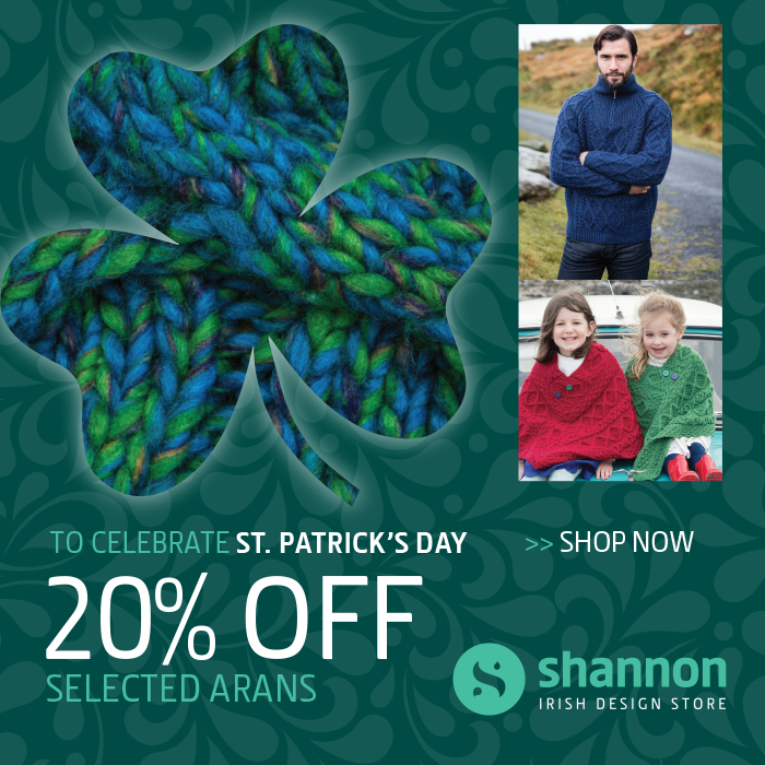 St Patricks Day 20% Off Banner